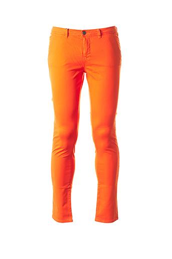 Pantalon casual orange SCHOOL RAG pour femme