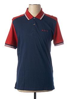 Polo manches courtes bleu BEN SHERMAN pour homme