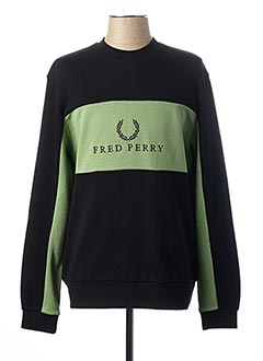 Sweat-shirt noir FRED PERRY pour homme