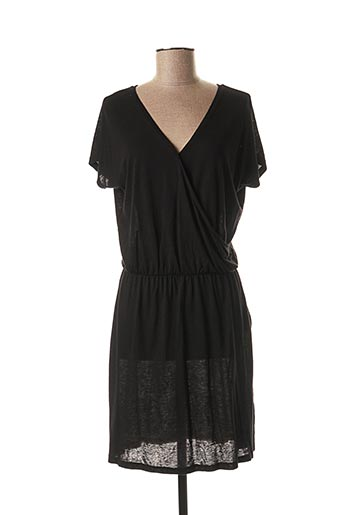 Robe mi-longue noir ABSOLUT CASHMERE pour femme