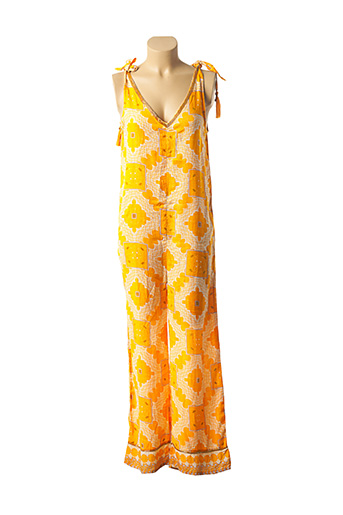 Combi-pantalon orange AMENAPIH pour femme