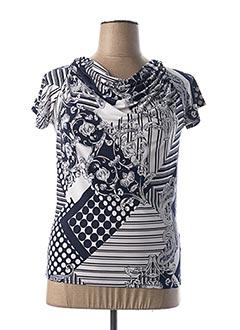 T-shirt manches courtes bleu MARBLE pour femme
