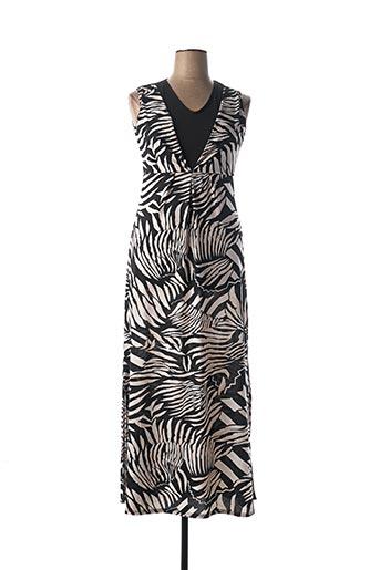 Robe longue noir MARBLE pour femme