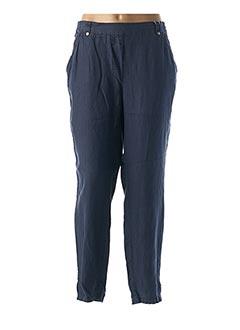 Pantalon 7/8 bleu EL INTERNATIONALE pour femme