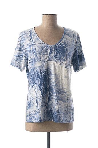 T-shirt manches courtes bleu MERI & ESCA pour femme