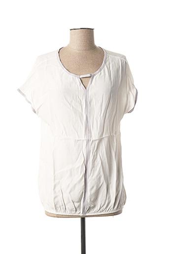 Blouse manches courtes blanc CECIL pour femme