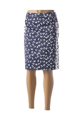 Jupe mi-longue bleu DIVAS pour femme