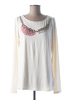 T-shirt manches longues beige LIU JO pour femme