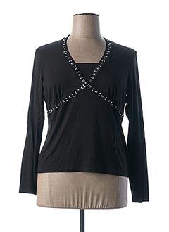 T-shirt manches longues noir DIANA GALLESI pour femme