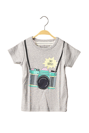 T-shirt manches courtes gris MILK ON THE ROCKS pour enfant