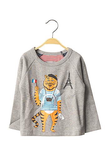 T-shirt manches longues gris MILK ON THE ROCKS pour enfant