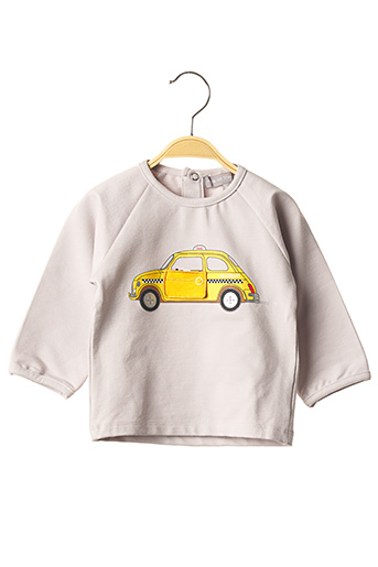 Sweat-shirt gris MILK ON THE ROCKS pour garçon