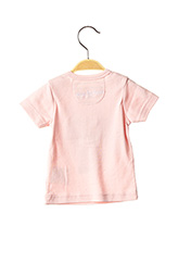 T-shirt manches courtes rose MILK ON THE ROCKS pour fille seconde vue