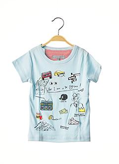 T-shirt manches courtes bleu MILK ON THE ROCKS pour garçon