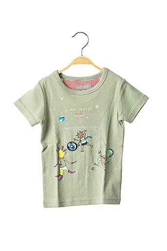 T-shirt manches courtes vert MILK ON THE ROCKS pour garçon