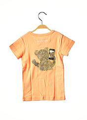T-shirt manches courtes orange MILK ON THE ROCKS pour garçon seconde vue