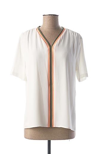 T-shirt manches courtes beige FRANK WALDER pour femme