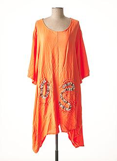 Tunique manches longues orange C'FAIT POUR VOUS pour femme