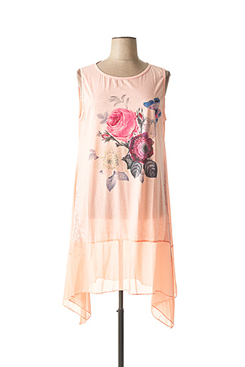 Robe mi-longue rose H-3 pour femme