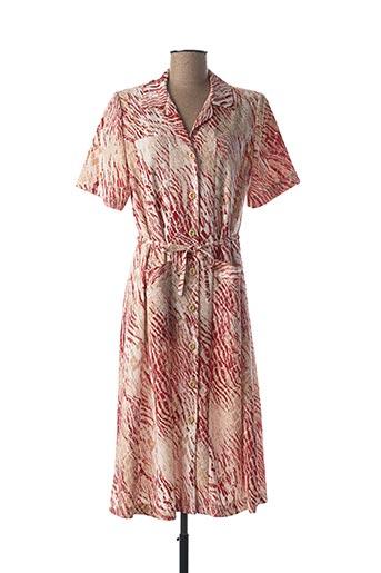 Robe mi-longue rouge ANNE KELLY pour femme