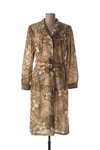 Robe mi-longue vert ATLANTA pour femme