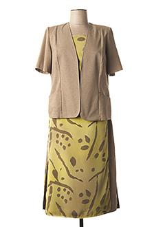 Veste/robe jaune FRANCE RIVOIRE pour femme