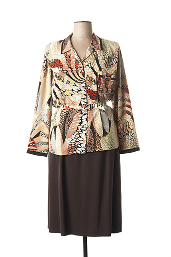 Veste/robe marron FRANCE RIVOIRE pour femme