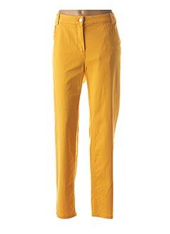 Pantalon casual jaune BASLER pour femme