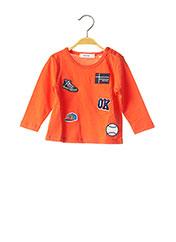 T-shirt manches longues orange MARESE pour enfant seconde vue