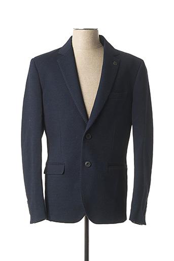 Veste chic / Blazer bleu DELAHAYE pour homme
