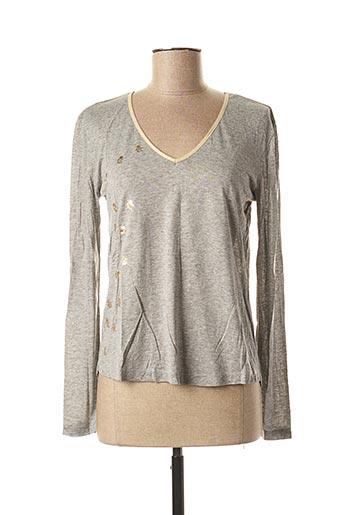 T-shirt manches longues gris LE BOUDOIR D'EDOUARD pour femme