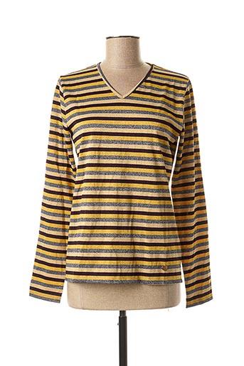 T-shirt manches longues jaune LE BOUDOIR D'EDOUARD pour femme