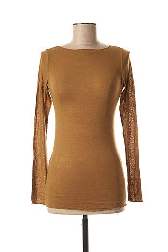 T-shirt manches longues marron LE BOUDOIR D'EDOUARD pour femme