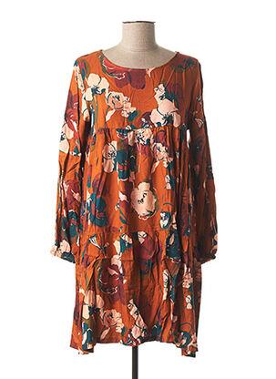 Robe mi-longue orange LE BOUDOIR D'EDOUARD pour femme