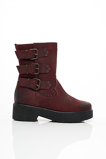 Bottines/Boots rouge COOL WAY pour femme