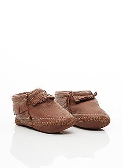 Chaussons/Pantoufles marron MINNETONKA pour garçon