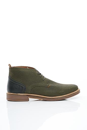 Bottines/Boots vert BULLBOXER pour homme