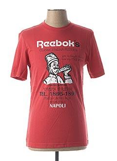 T-shirt manches courtes rouge REEBOK pour homme