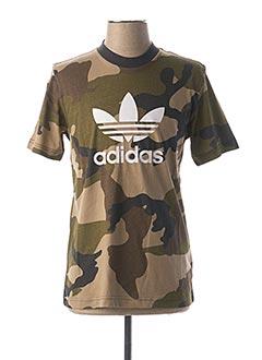 T-shirt manches courtes vert ADIDAS pour homme