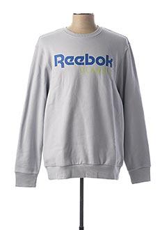 Sweat-shirt gris REEBOK pour homme