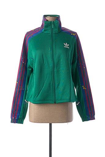 Veste casual vert ADIDAS pour femme