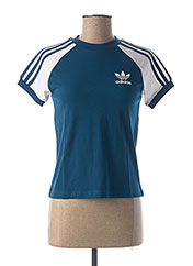 T-shirt manches courtes bleu ADIDAS pour enfant seconde vue
