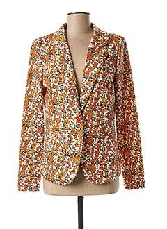 Veste chic / Blazer orange ICHI pour femme