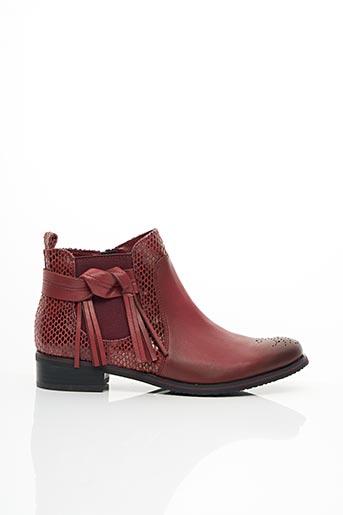 Bottines/Boots rouge FUGITIVE pour femme