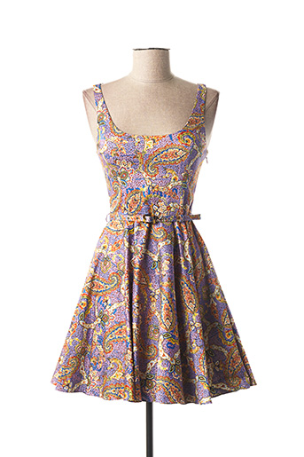 Robe courte violet GALLIANO pour femme