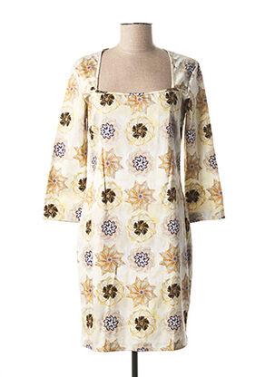 Robe courte jaune GALLIANO pour femme