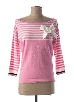 Pull col bateau rose MY TWIN pour femme
