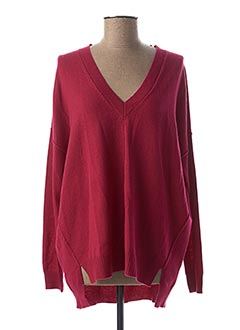 Pull col V rose TWINSET pour femme