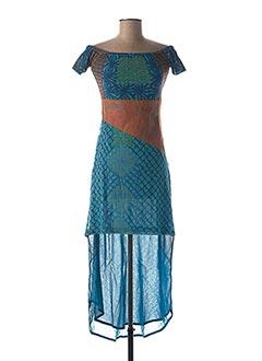 Robe longue bleu SAVE THE QUEEN pour femme