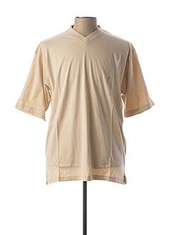T-shirt manches courtes beige GENTLEMAN FARMER pour homme